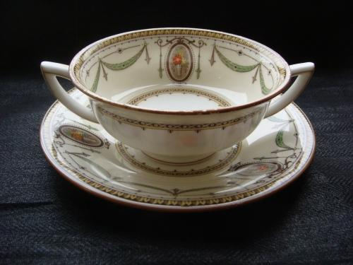 Art Nouveau Minton Double Handled Soup Bowl