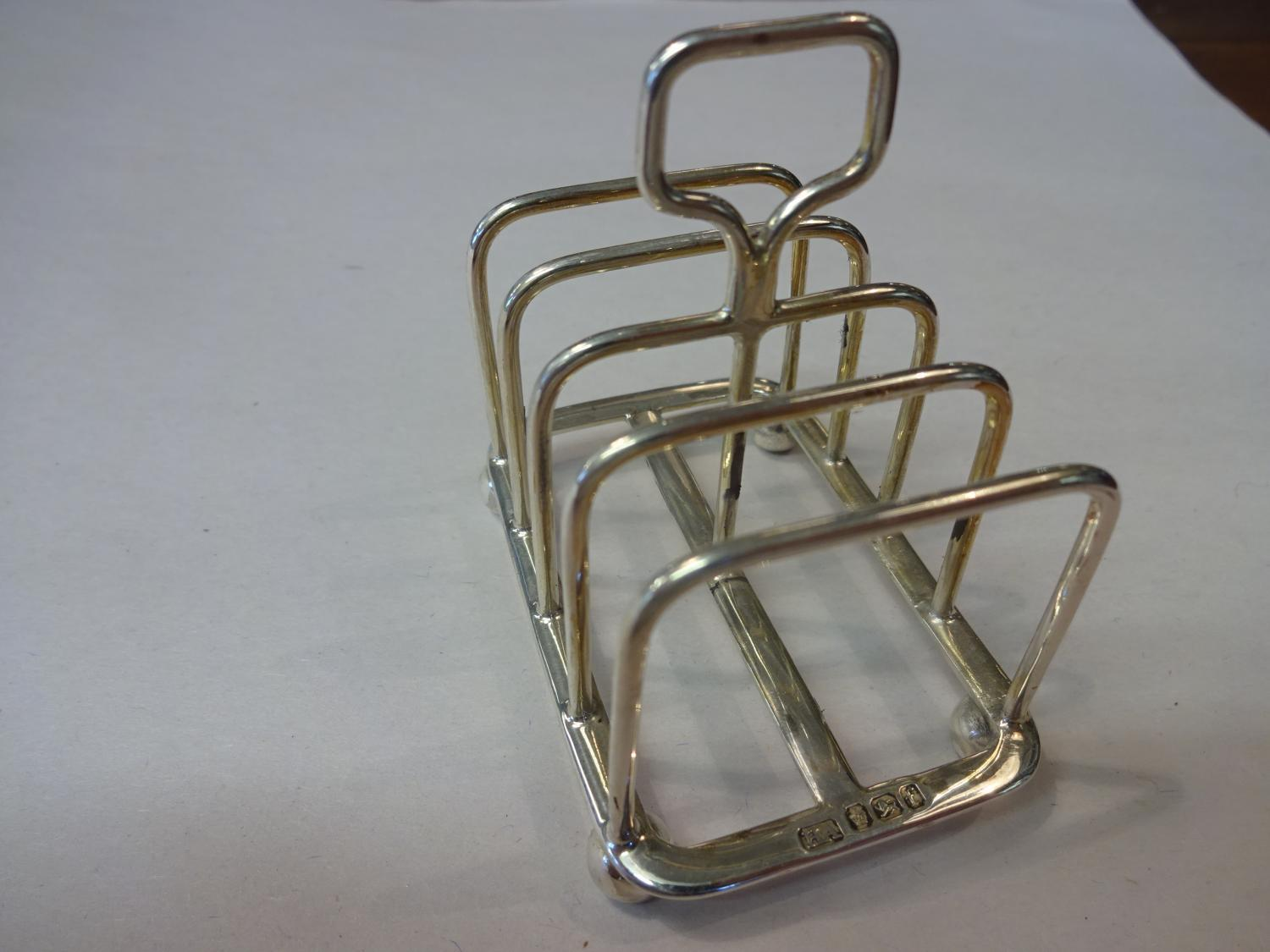 Solid Silver Toast Rack Sheffield 1898