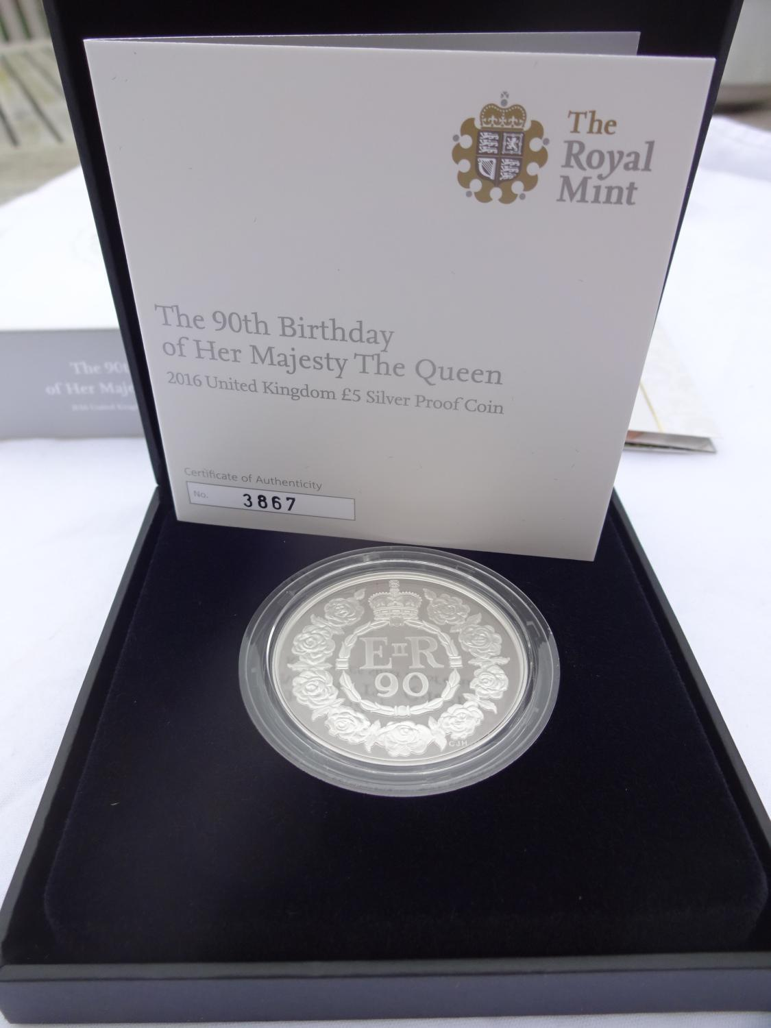 2016 Royal Mint Queens 90th Birthday £5 Coin