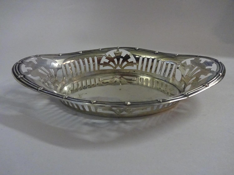 Solid Silver Bon Bon Dish Birmingham 1885