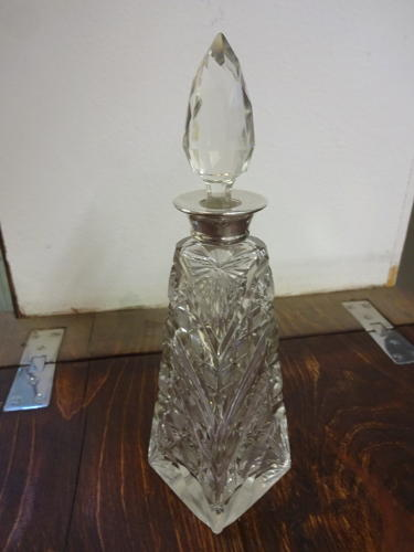 Antique Silver Collared Scent Bottle London 1910