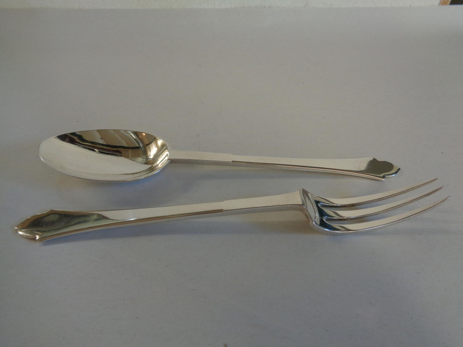 Solid Silver Art Deco Fork & Spoon