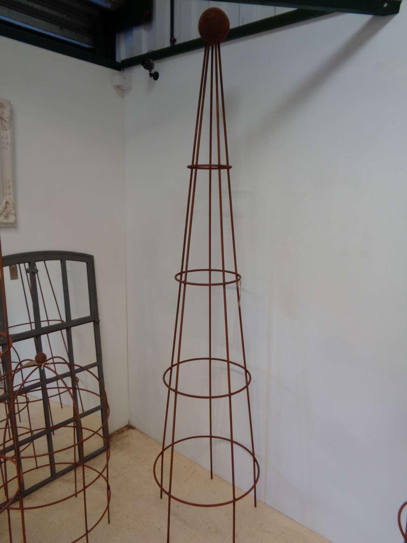 Garden Metal Extra Large Cone Obelisk Plant Support