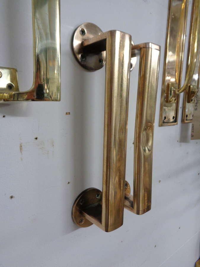 Art Deco Brass Door Handles