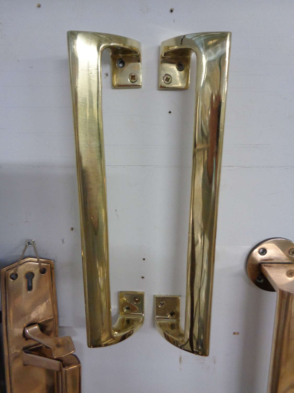 Vintage Heavy Brass Door Handles
