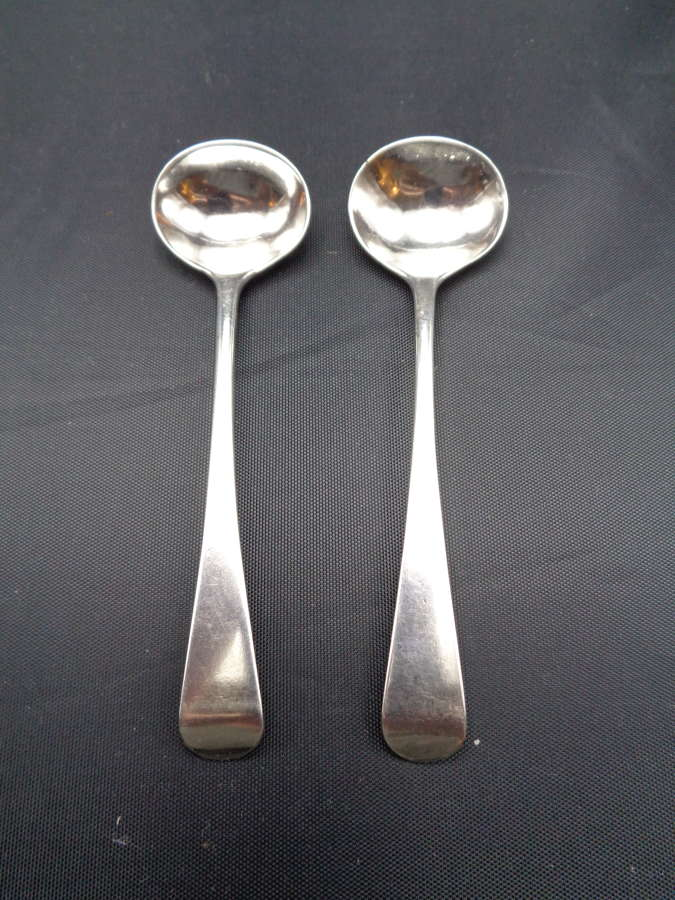 Georgian Solid Silver Condiment Spoons
