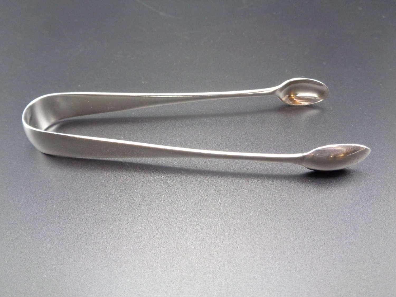 Victorian Solid Silver Sugar Tongs / Nips