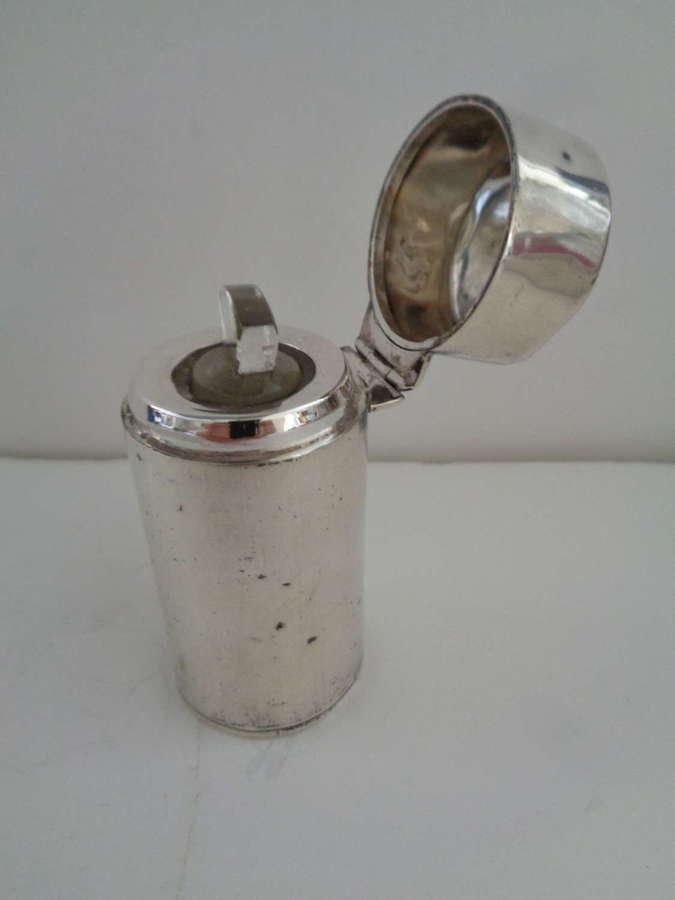 Edwardian Solid Silver Scent Bottle