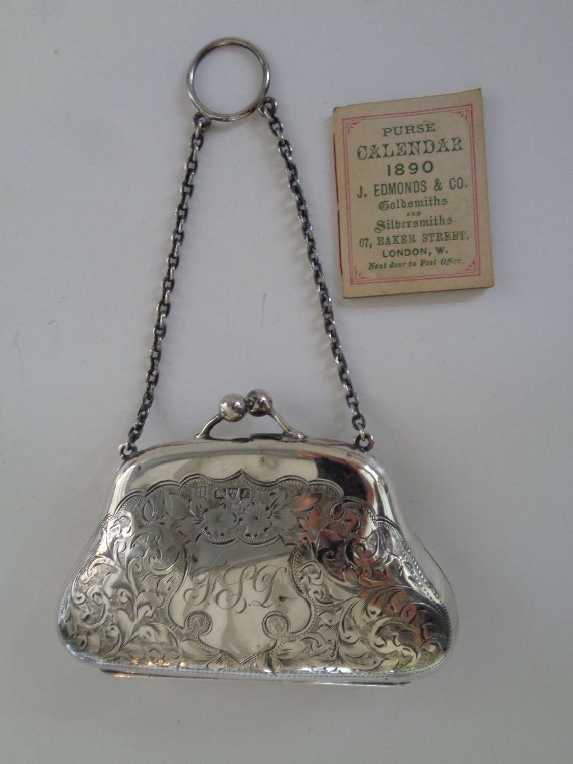 Edwardian Solid Silver Finger Purse