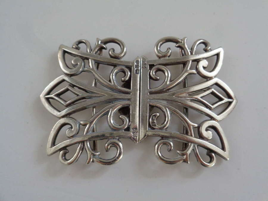 Antique Solid Silver Nurses Buckle