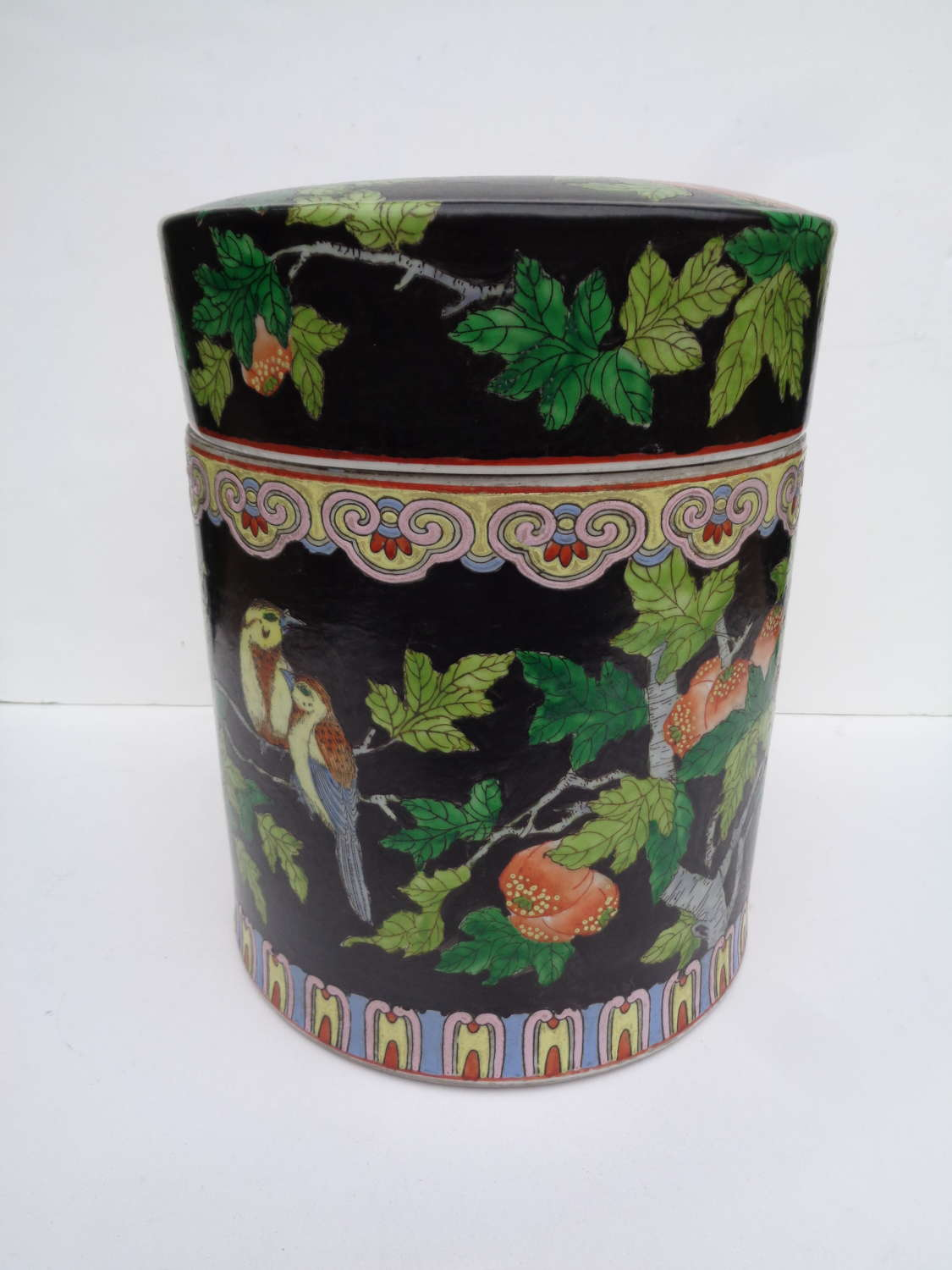 Early 20th Century Chinese Cylindrical Pot