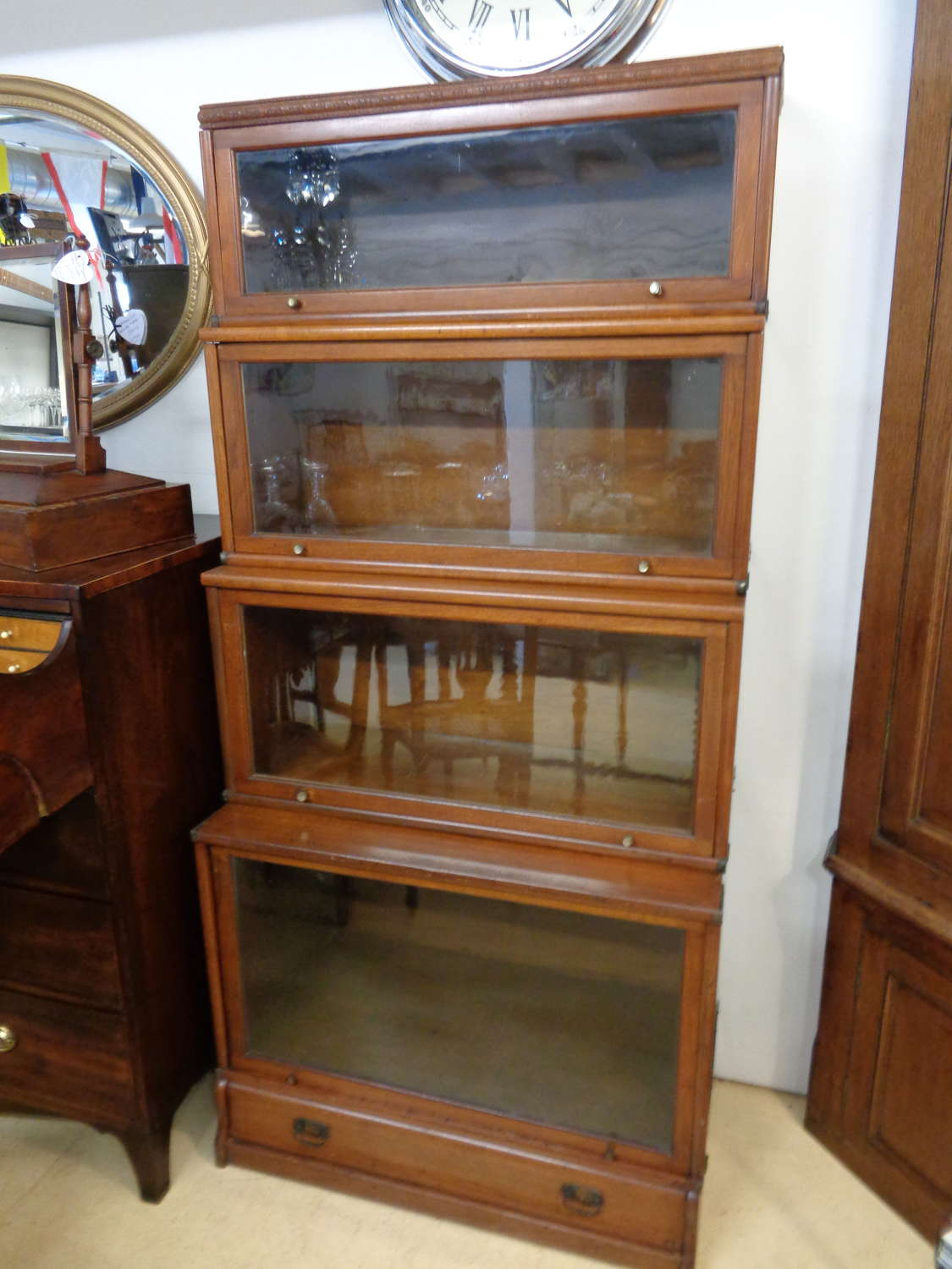 Antique Globe Wernicke (Style) 5 Section Bookcase