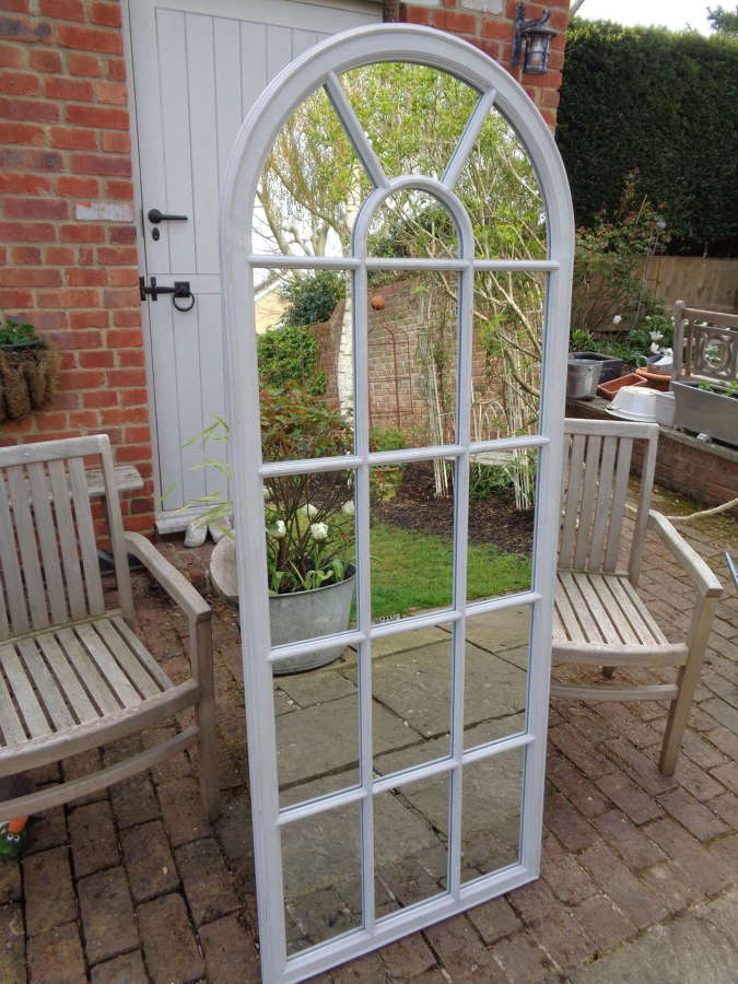 Full Length Arched Panelled Mirror