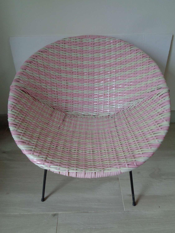 Retro Child's Atomic Sputnik Basket Chair