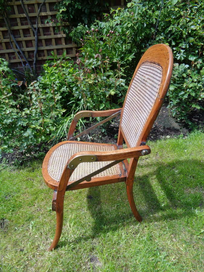 Antique Folding Campaign Chair