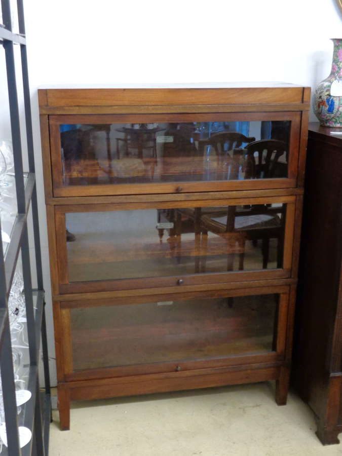 Antique Globe Wernicke 3 Section Oak Bookcase