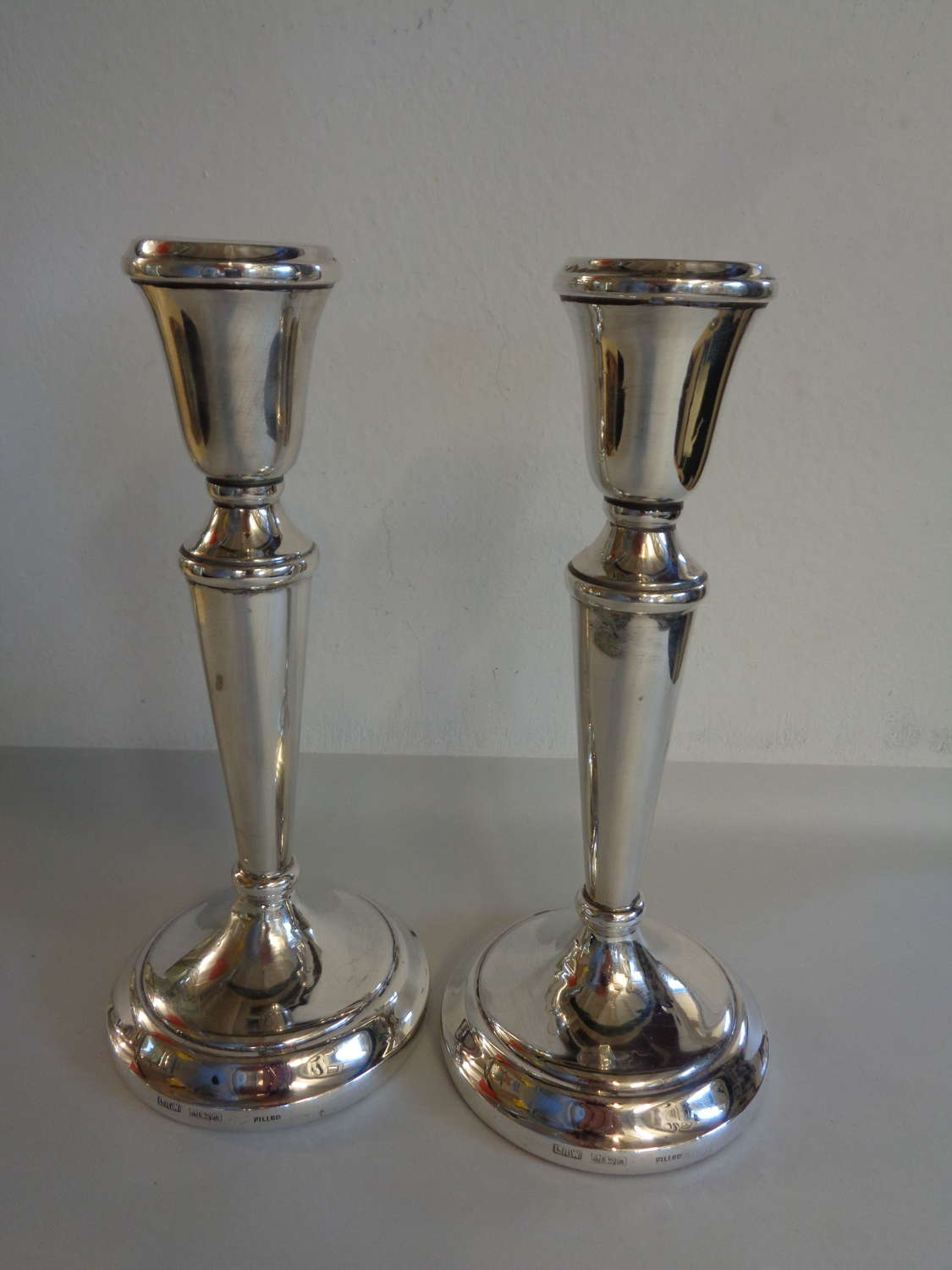 Solid Silver Candlesticks (Pair)