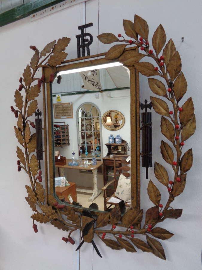 Antique Metal French Republic Mirror