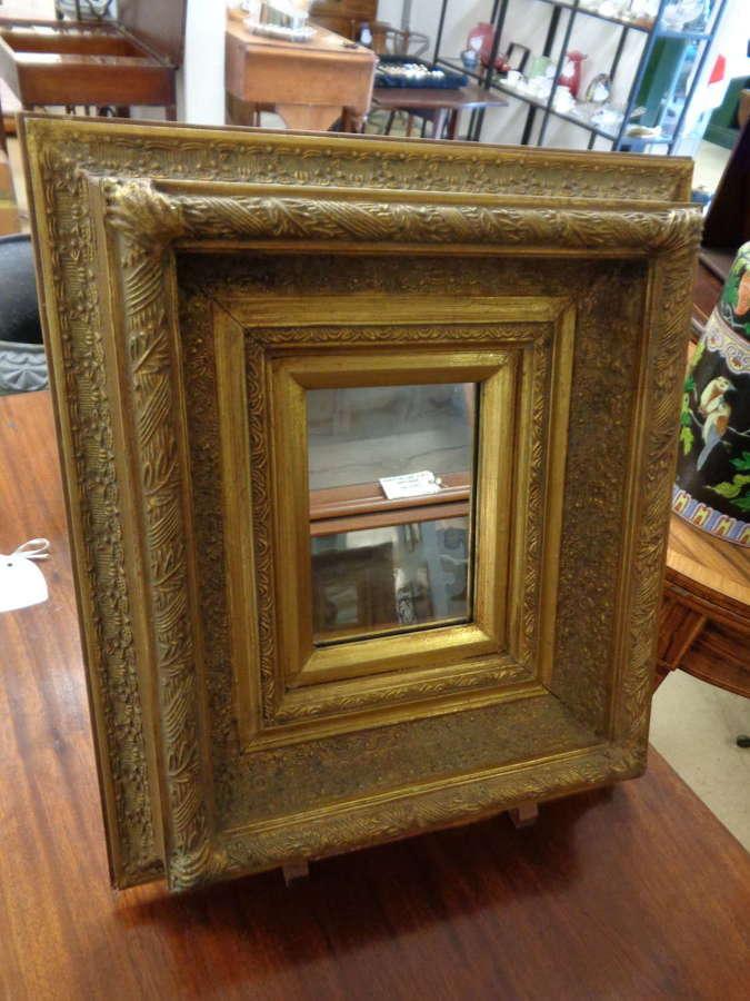 Heavy Gilt Framed Wall Mirror