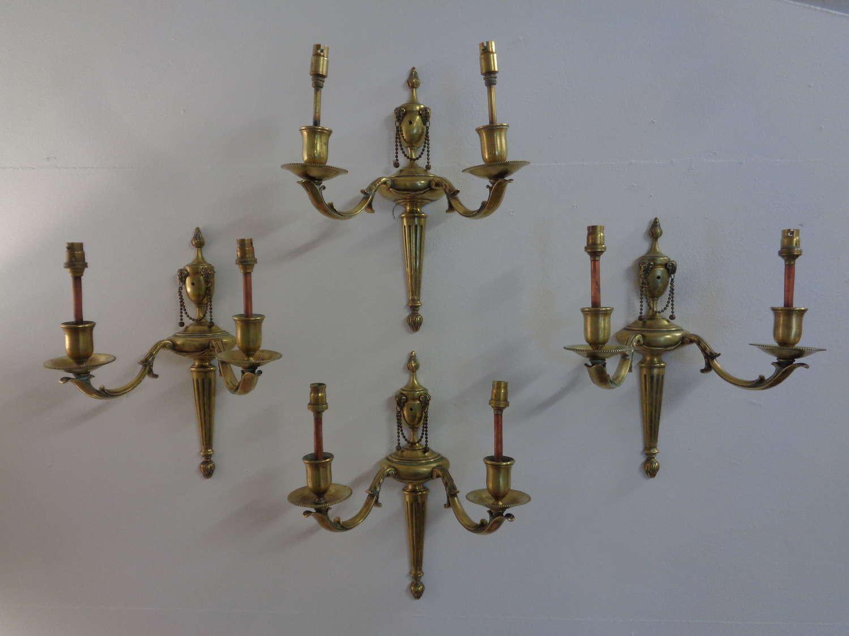Antique Brass Wall Lights