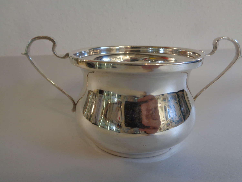 Solid Silver Porringer / Sugar Bowl