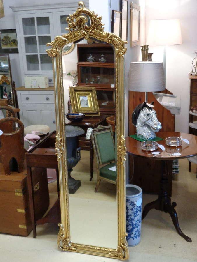 Full Length Gold Gilt Mirror