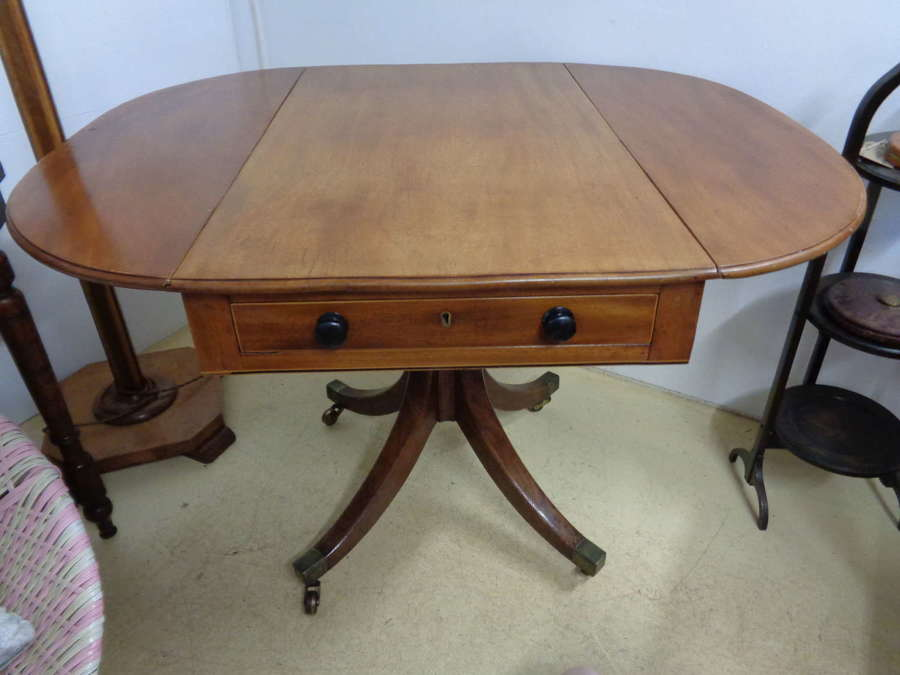 19th Century Mahogany Table with Twin Flaps