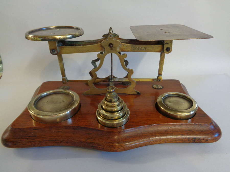 Antique Mechanical Scales with Weights