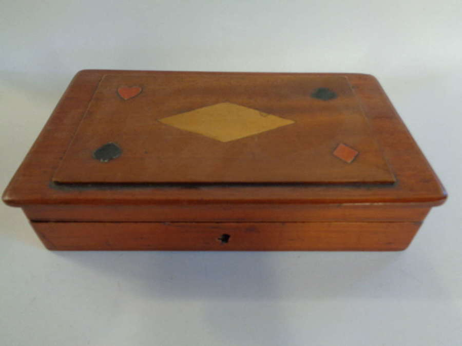 19th Century Rosewood Card Box + Pack Cards