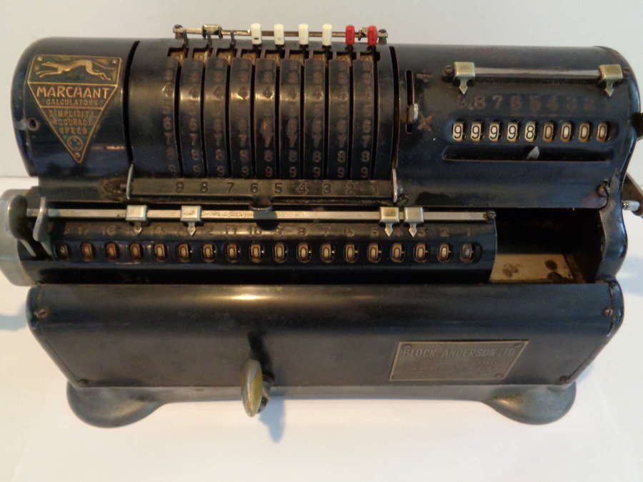 Antique Mechanical Marchant XL Calculator c1918