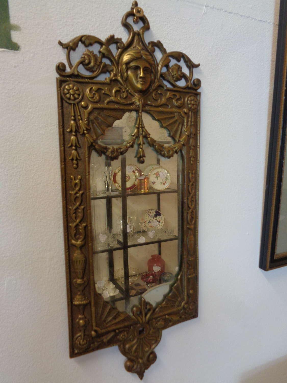 Pair Antique Gilt Wall Mirror Plaques