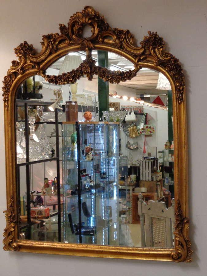 Ornate Gilt Over Mantle Mirror