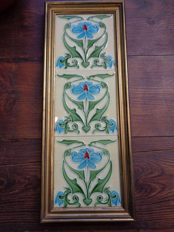 Art Nouveau Fireplace Tiles