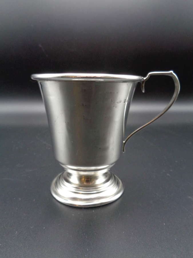 Solid Silver Christening Mug